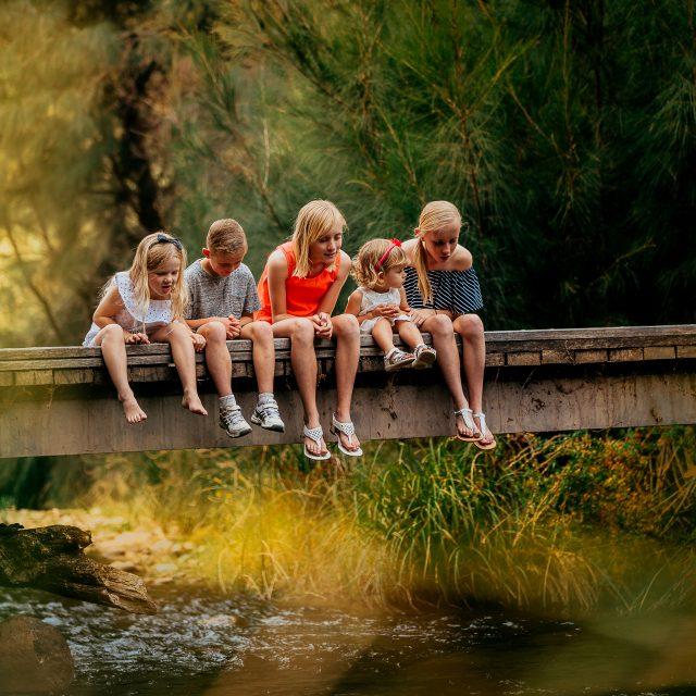 Blended Family of Five Children