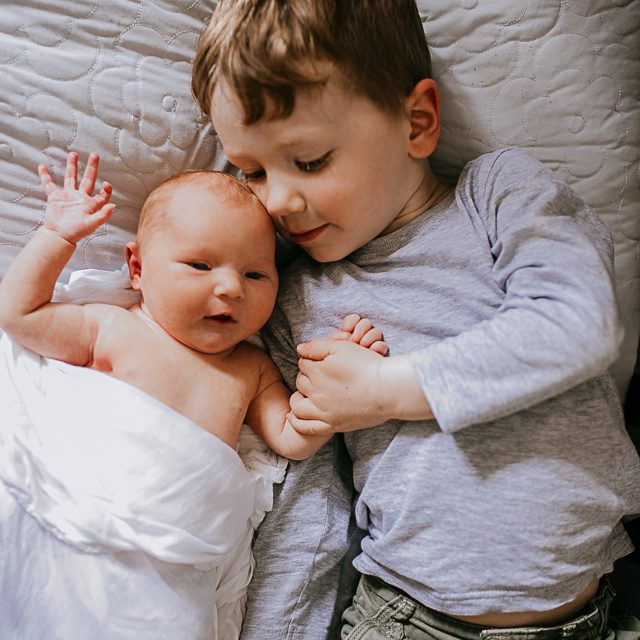 Toddler and newborn photos
